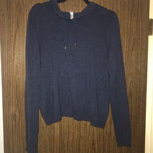 Navy Split-Back Fabletics Sweater
